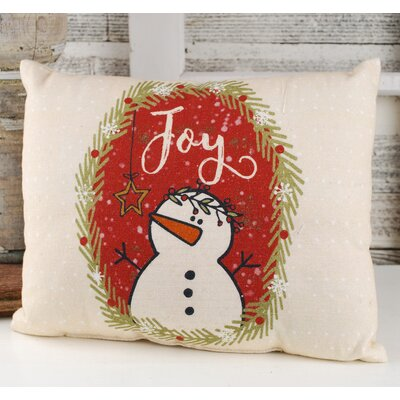 Cardenas Joy Snowman Lumbar Pillow