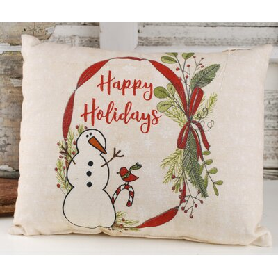 Schulze Happy Holiday Snowman Lumbar Pillow