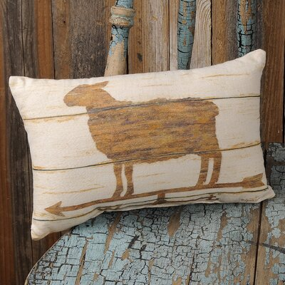 Deges Sheep Weathervane Lumbar Pillow
