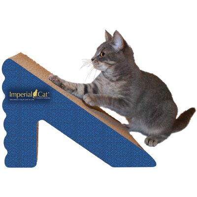 Scratch n Shapes Rub & Ramp Recycled Paper Scratching Post Color: Italian Blue