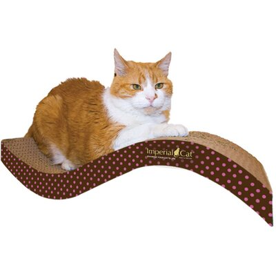 Scratch n Shapes Medium Purrfect Stretch Recycled Paper Scratching Board Pattern: Pink Polka Dot