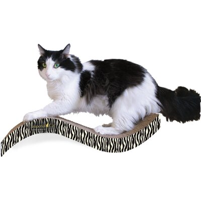 Scratch n Shapes Medium Purrfect Stretch Recycled Paper Scratching Board Pattern: Zebra