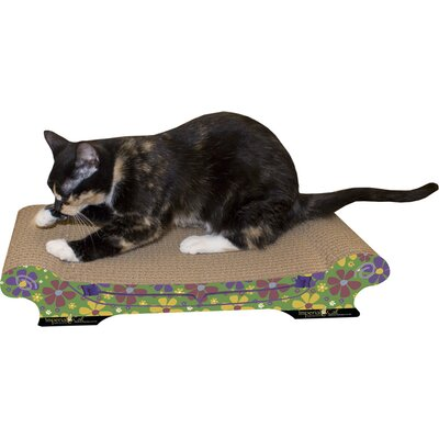 Scratch n Shapes Large Comfort Couch Recycled Paper Scratching Board Style: Retro B