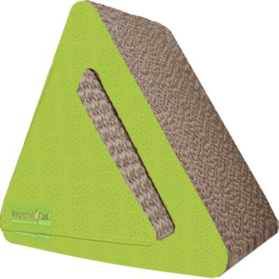 Scratch n Shapes Triangle Combo Recycled Paper Scratching Post Pattern: Italian Green