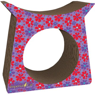 Scratch n Shapes Tower Tunnel Recycled Paper Cat Scratching Post Pattern: Retro E