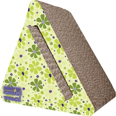 Scratch n Shapes Triangle Combo Recycled Paper Scratching Post Pattern: Retro C