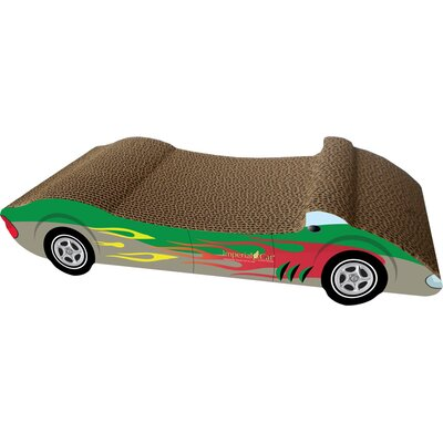 Scratch n Shapes Medium Racer Recycled Paper Scratching Board Style: Green with Flames