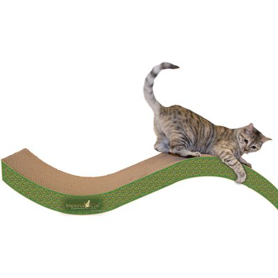 Scratch n Shapes Giant Purrfect Stretch Recycled Paper Scratching Board Color: Peacock