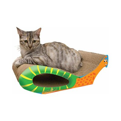 Scratch n Shapes Snail Recycled paper Scratching Board Size: Small (16 L x 9 W)