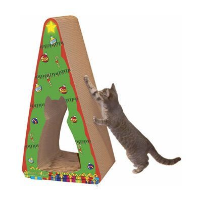 Scratch n Shapes 2 piece Christmas Tree Recycled paper  Scratching Post