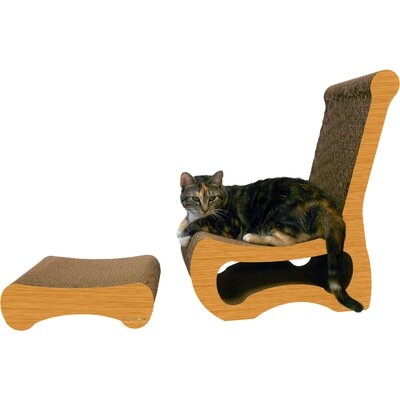 Scratch n Shapes 2 Piece Easy Chair Set Recycled paper Scratching Post