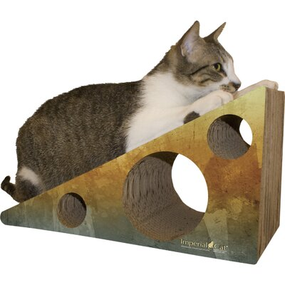 Scratch n Shapes Wedge Recycled paper Scratching Post Color: Brown Water