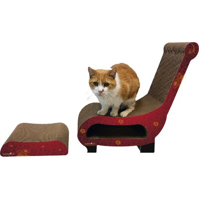 Scratch n Shapes 2 Piece Club Chair Set Recycled paper Scratching Post