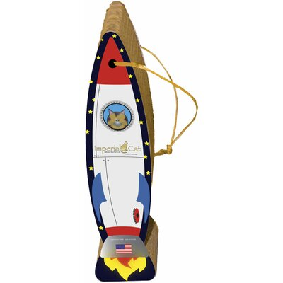 Scratch n' Shapes Rocket Ship Hanging Recycled Paper Scratching Post