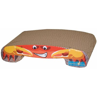Scratch n' Shapes Crab Recycled Paper Cat Scratching Board