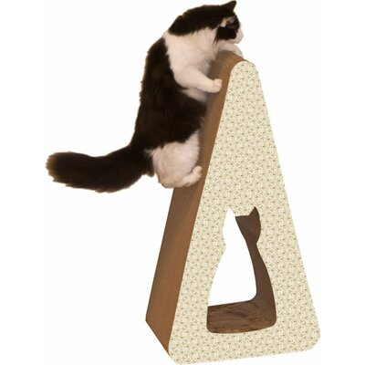 Scratch n Shapes Pyramid Recycled Paper Scratching Post Pattern: Paisley
