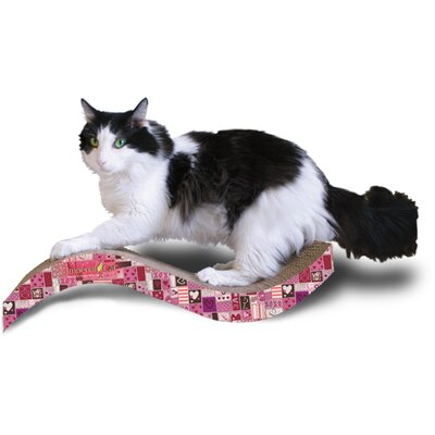 Scratch n Shapes Medium Purrfect Stretch Recycled Paper Scratching Board Pattern: Valentine A