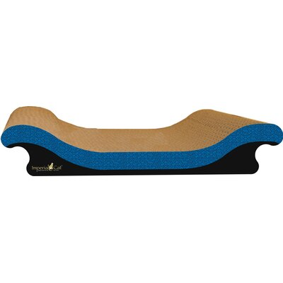 Scratch n Shapes Scoop Sofa Recycled Paper Scratching Board Style: Italian Blue