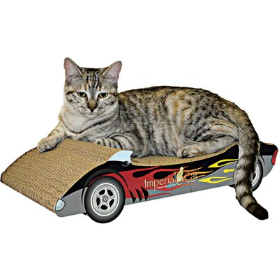 Scratch n Shapes Medium Racer Recycled Paper Scratching Board Style: Black with Flames