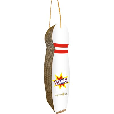 Scratch n Shapes Bowling Pin Hanging Recycled Paper Scratching Post