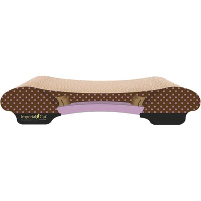Scratch n Shapes Bella Sofa Recycled Paper Scratching Board Pattern: Pink Polka Dot
