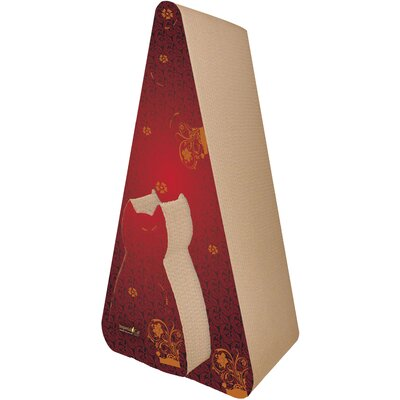 Scratch n Shapes Pyramid Recycled Paper Scratching Post Pattern: Victorian Red