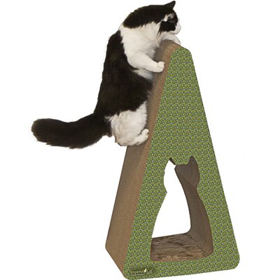 Scratch n Shapes Pyramid Recycled Paper Scratching Post Pattern: Peacock