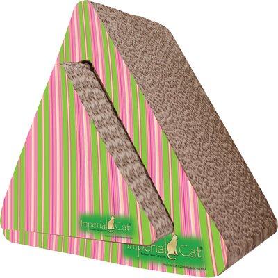 Scratch n Shapes Triangle Combo Recycled Paper Scratching Post Pattern: Cat Scratcher Stripe A