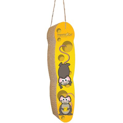 Scratch n Shapes Mice and Cheese Hanging Recycled Paper Scratching Board