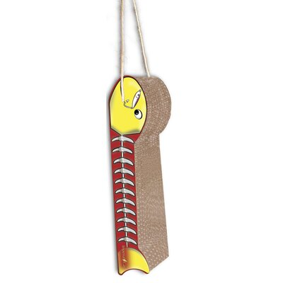 Scratch n Shapes Hanging Fish on a Line Recycled Paper Scratching Board Style: Yellow and Red