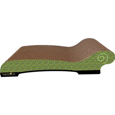 Large Chaise Lounge Recycles Paper Scratching Board Style: Peacock