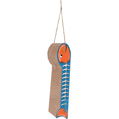 Scratch n Shapes Hanging Fish on a Line Recycled Paper Scratching Board Style: Orange and Light Blue