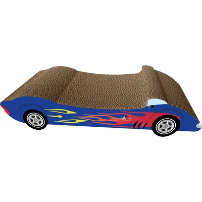 Scratch n Shapes Medium Racer Recycled Paper Scratching Board Style: Blue with Flames