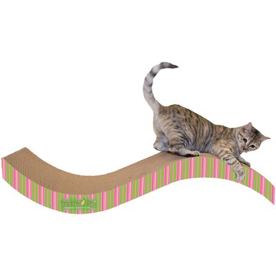 Scratch n Shapes Giant Purrfect Stretch Recycled Paper Scratching Board Color: Stripe A
