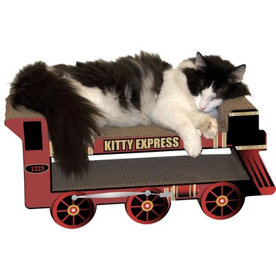 Scratch n Shapes Kitty Express Train Scratching Board