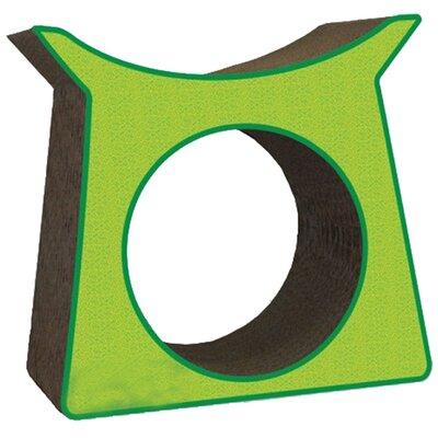 Scratch n Shapes Tower Tunnel Recycled Paper Cat Scratching Post Pattern: Italian Green