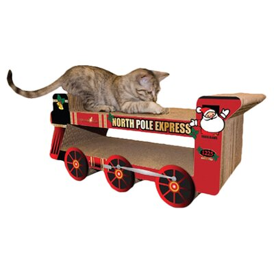 scratch n Shapes North Pole Express Train Recycled Paper Scratching Board