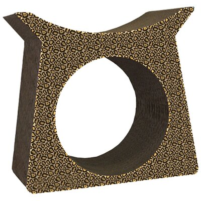 Scratch n Shapes Tower Tunnel Recycled Paper Cat Scratching Post Pattern: Cheetah