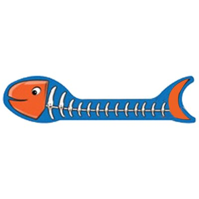 Scratch n Shapes Fish Bone Recycled Paper Scratching Board Style: Orange and Light Blue
