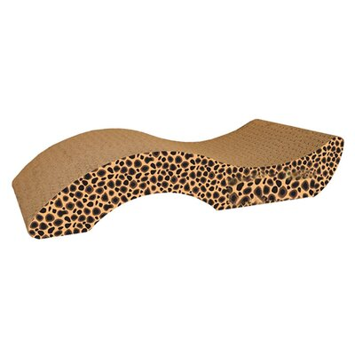 Scratch n Shapes Small Purrfect Stretch Recycled Paper Scratching Board Color: Jaguar