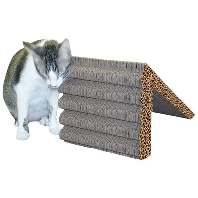 Scratch n Shapes Rub & Ramp Recycled Paper Scratching Post Color: Cheetah