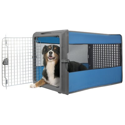 Badgett Large Pop Open Pet Crate Color: Blue
