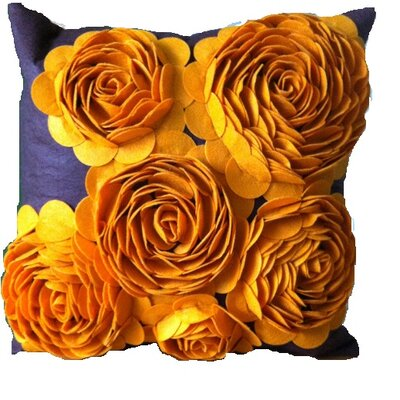 3-d Effect Felt Accent Throw Pillow