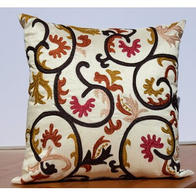 Embroidered Accent Throw Pillow