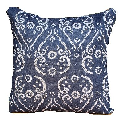 Jute Printed Accent Throw Pillow
