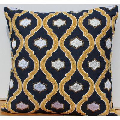 Velvet Accent Cotton Throw Pillow