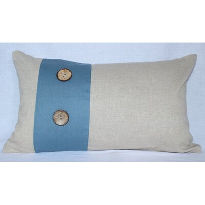 Panels Cotton Lumbar Pillow Color: Beige / Blue