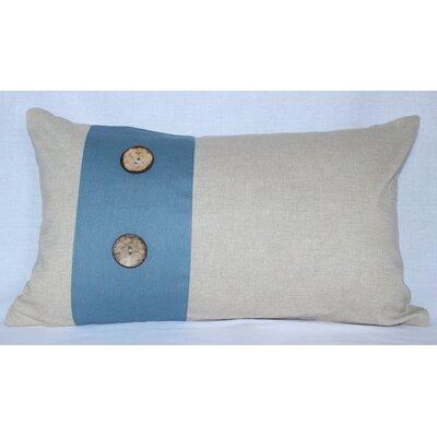 Panels Cotton Lumbar Pillow Color: Beige / Blue