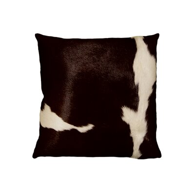 Torino Leather Throw Pillow Color: Chocolate/White