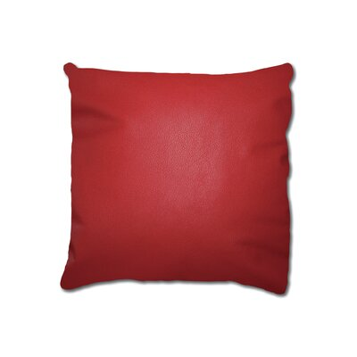 Dorine Leather Square Cowhide Throw Pillow Color: Red